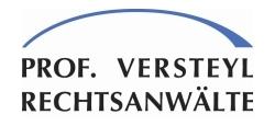 Logo Prof. Versteyl Rechtsanwälte